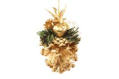 De gouden buil van Kerstmis Royalty-vrije Stock Afbeeldingen