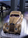 De gouden Coupé Aerosport van Delage D8-120 van 1937 Royalty-vrije Stock Fotografie