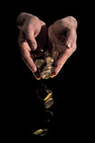 De gouden Daling van het Muntstuk Royalty-vrije Stock Foto's