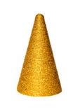 De gouden decoratie van Kerstmis Royalty-vrije Stock Foto's