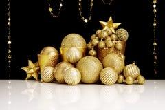 De gouden decoratie van Kerstmis Royalty-vrije Stock Foto