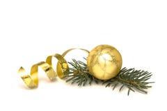 De gouden decoratie van Kerstmis royalty-vrije stock fotografie