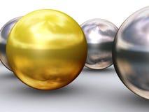 De gouden dichte bal van de leider royalty-vrije illustratie