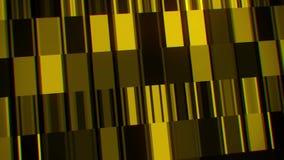 De gouden Digitale van de de Lijnmotie van Neonlijnen VJ het Neonlijnen van BackgroundBlue Digitale & Vierkantenvj Achtergrond va stock video