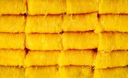 De gouden eierdooiers foileren riem passen van de dessert (fios DE ovos) vraag in T in Royalty-vrije Stock Foto's
