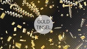 De gouden Explosie speelt de Achtergrond van Wimpelstinsel burst horizontal mystical glitter mee Premiekerstmis, Nieuwjaar, Verja royalty-vrije illustratie