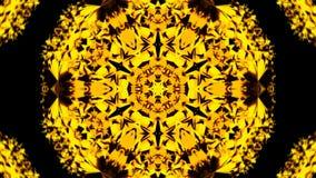 De gouden gebiedvorm met vele elementen in ruimte, 3d geeft achtergrond terug, computer die achtergrond produceren Royalty-vrije Stock Afbeeldingen