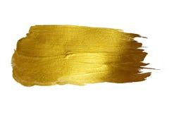 De gouden Glanzende Getrokken Illustratie van de Verfvlek Hand royalty-vrije stock fotografie