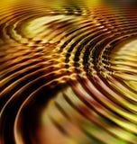 De gouden Golven van de Rimpeling van het Blad vector illustratie