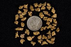De Gouden Goudklompjes van de Placer van Idaho Royalty-vrije Stock Foto