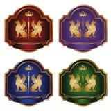 De gouden griffioen van etiketten -   royalty-vrije stock afbeelding