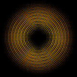 De gouden halftone cirkel van de lichten abstracte banner Vector illustratie royalty-vrije illustratie