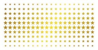 De Gouden Halftone Matrijs van de confettienster royalty-vrije illustratie