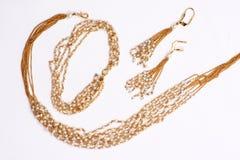 De gouden Halsband van de Parel Stock Foto