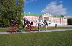 De gouden herfst in Kuskovo Stock Fotografie