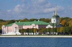 De gouden herfst in Kuskovo Stock Afbeeldingen