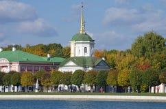 De gouden herfst in Kuskovo Stock Foto's
