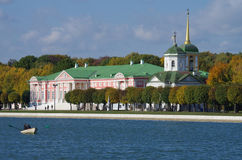 De gouden herfst in Kuskovo Royalty-vrije Stock Fotografie