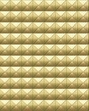 De gouden industriële samenvatting van de metaaloppervlakte Stock Foto's