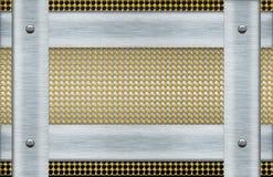 De gouden industriële samenvatting van de metaaloppervlakte Stock Afbeelding