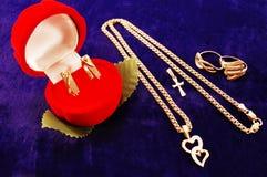 De gouden juwelen van juwelen Royalty-vrije Stock Foto's