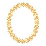 De gouden ketting, nam - ovaal kader op een wit toe stock illustratie