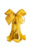 De gouden Klok van Kerstmis Stock Foto's