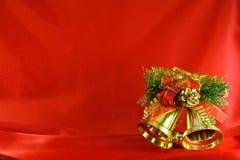 De gouden klokken van Kerstmis stock foto