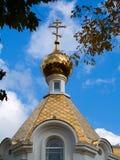 De gouden Koepel van de Kerk Royalty-vrije Stock Foto's