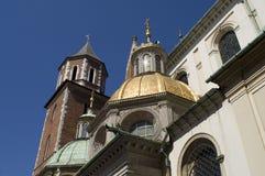 De gouden koepel van Wawel Stock Afbeeldingen