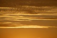 De Gouden Kust van de zonsondergang royalty-vrije stock afbeeldingen