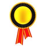 De gouden Lege Rozet van het Toekenningslint het 3d teruggeven Royalty-vrije Stock Fotografie
