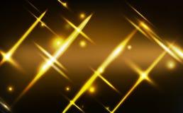De gouden lichte gloeiende effect neonachtergrond, viering, Kerstmis, wintertijd, speelt deeltjes glanzend festival, lichte motie stock illustratie