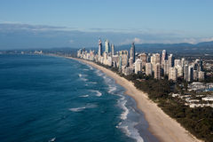 De gouden LuchtMening van de Kust van Queensland Australië van de Kust Royalty-vrije Stock Foto