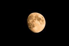 De gouden maan van Nice met enkel reepje in schaduw Royalty-vrije Stock Afbeelding