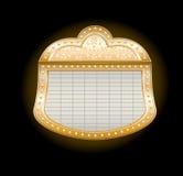 De gouden Markttent van het Theater royalty-vrije illustratie