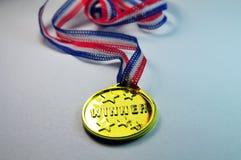 De Gouden Medaille van de winnaar Stock Afbeelding