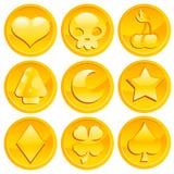 De Gouden Muntstukken van het spel stock illustratie
