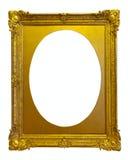 De gouden omlijsting van de ellips stock afbeeldingen