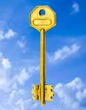 De gouden Oplossing Stock Foto