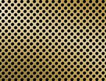 De gouden oppervlakte van het metaaltraliewerk Royalty-vrije Stock Afbeeldingen