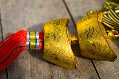 De gouden ornamenten van China Royalty-vrije Stock Foto's