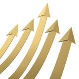 De gouden pijl groeit Stock Foto's