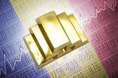 de gouden reserves van Andorra stock illustratie