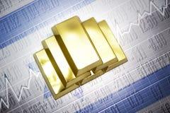 de gouden reserves van Israël stock illustratie