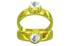 De gouden ring van het huwelijk Stock Foto's