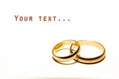 De gouden ringen van het huwelijk Royalty-vrije Stock Foto's