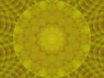 De gouden samenvatting van het de caleidoscooppatroon van de metaaltextuur om achtergrond De abstracte achtergrond van de caleido royalty-vrije illustratie