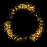De gouden schitterende cirkel van het sterstof Royalty-vrije Stock Foto