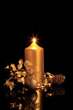 De gouden Schoonheid van Kerstmis Stock Foto's